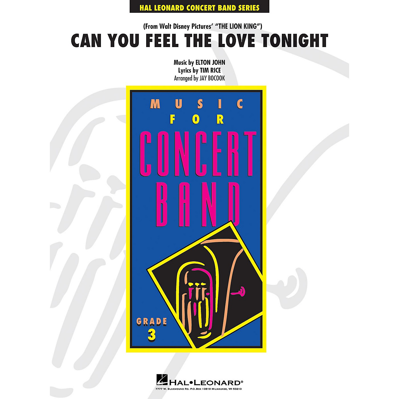 Hal Leonard Can You Feel the Love Tonight - Young Concert Band Series Level 3 arranged by Jay Bocook thumbnail