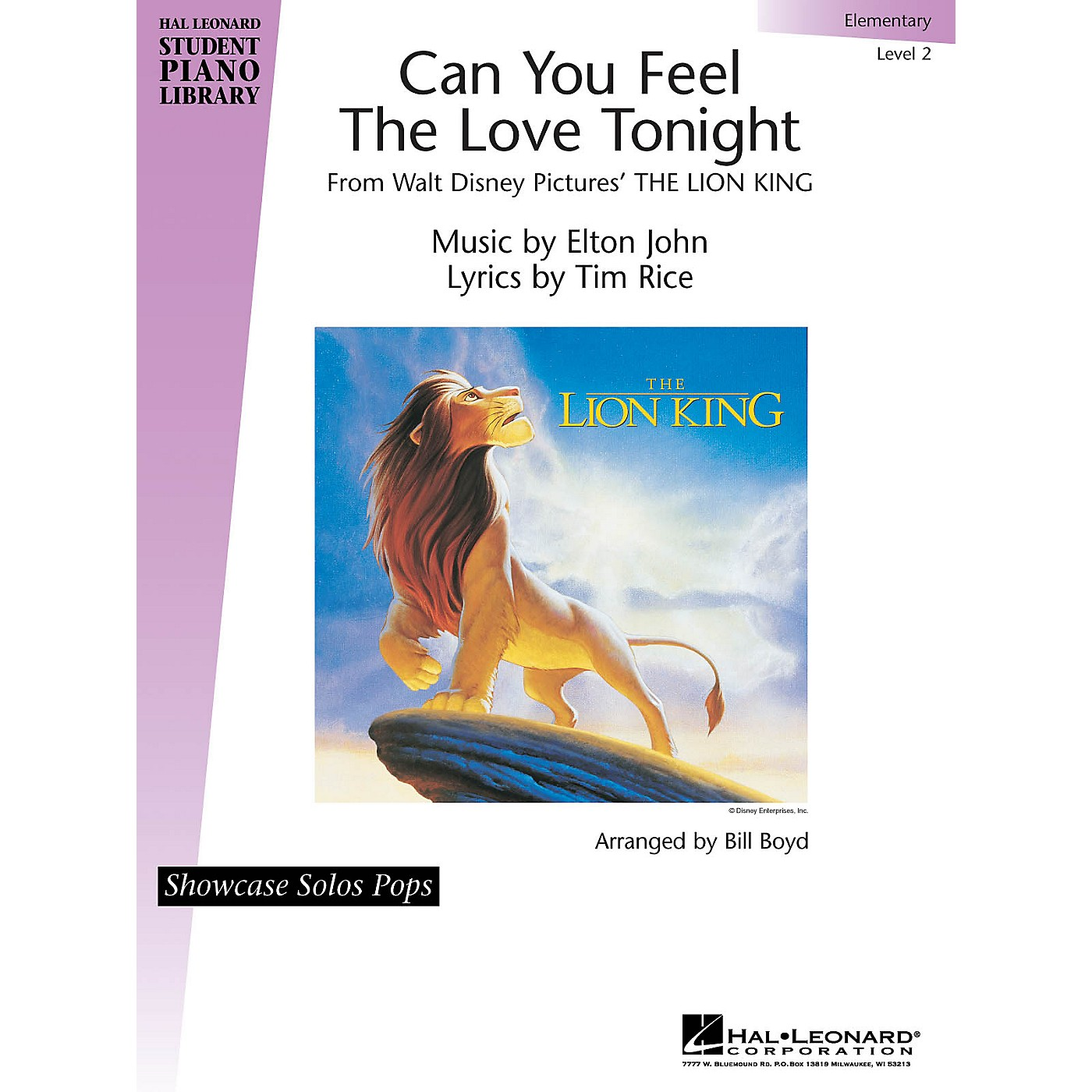 Hal Leonard Can You Feel the Love Tonight Piano Library Series by Tim Rice (Level Elem) thumbnail