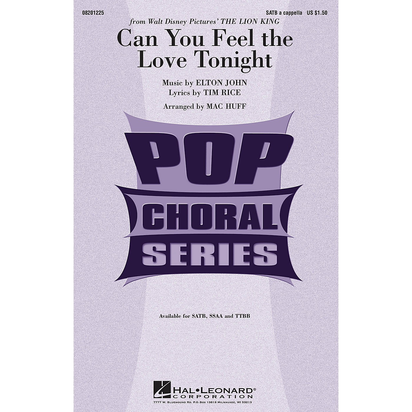 Hal Leonard Can You Feel the Love Tonight (from The Lion King) SATB a cappella arranged by Mac Huff thumbnail