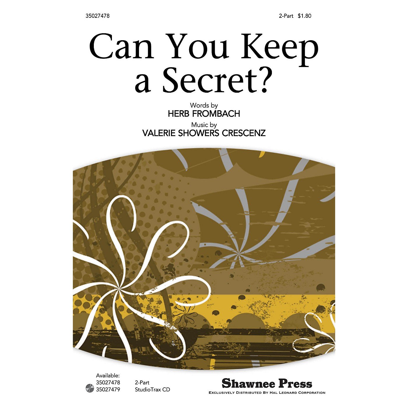 Shawnee Press Can You Keep a Secret? 2-Part composed by Valerie Showers Crescenz thumbnail