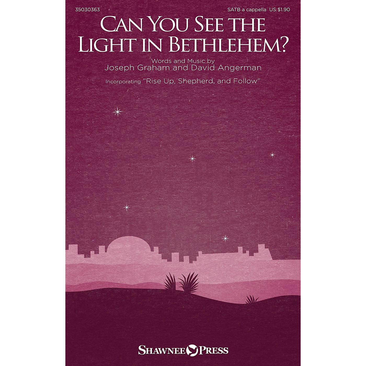 Shawnee Press Can You See the Light in Bethlehem? SATB a cappella composed by Joseph Graham thumbnail