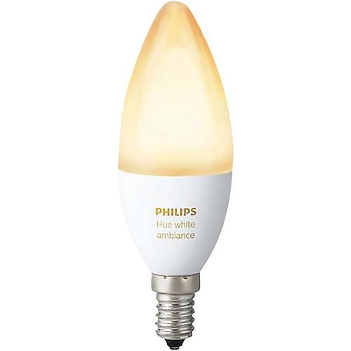 Philips Hue Candelabra White Ambiance 40W Equivalent E12 LED Light Bulb thumbnail