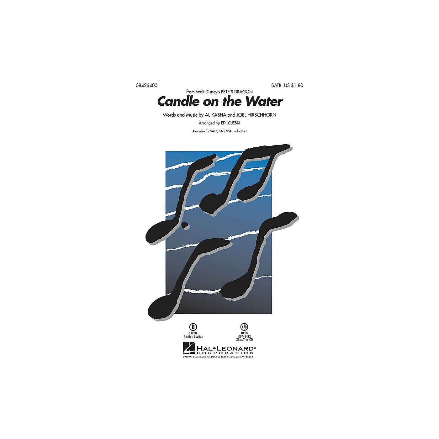 Hal Leonard Candle on the Water (from Pete's Dragon) SAB Arranged by Ed Lojeski thumbnail