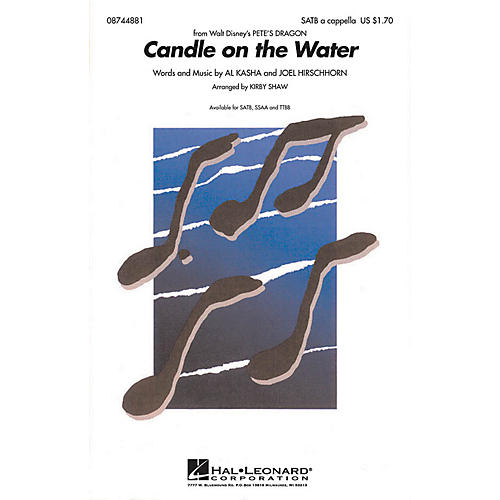 Hal Leonard Candle on the Water (from Pete's Dragon) TTBB A Cappella Arranged by Kirby Shaw thumbnail