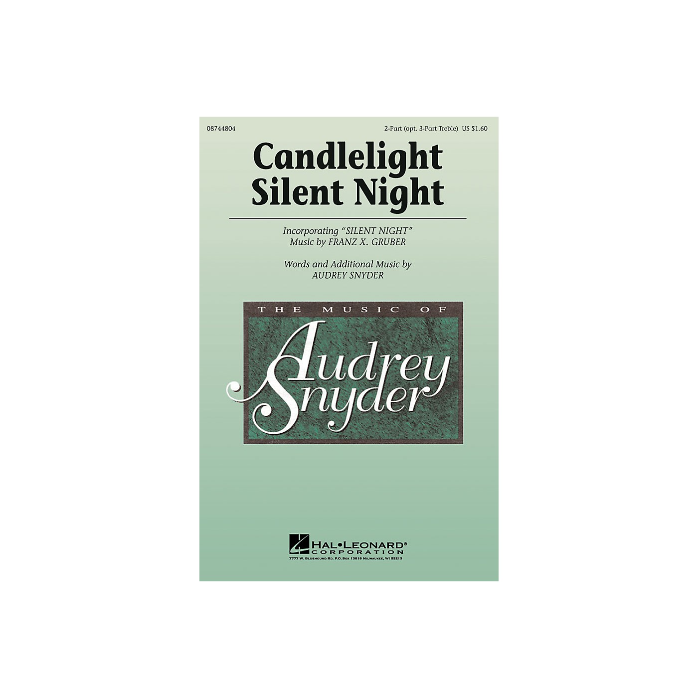 Hal Leonard Candlelight, Silent Night 2 Part / 3 Part composed by Audrey Snyder thumbnail