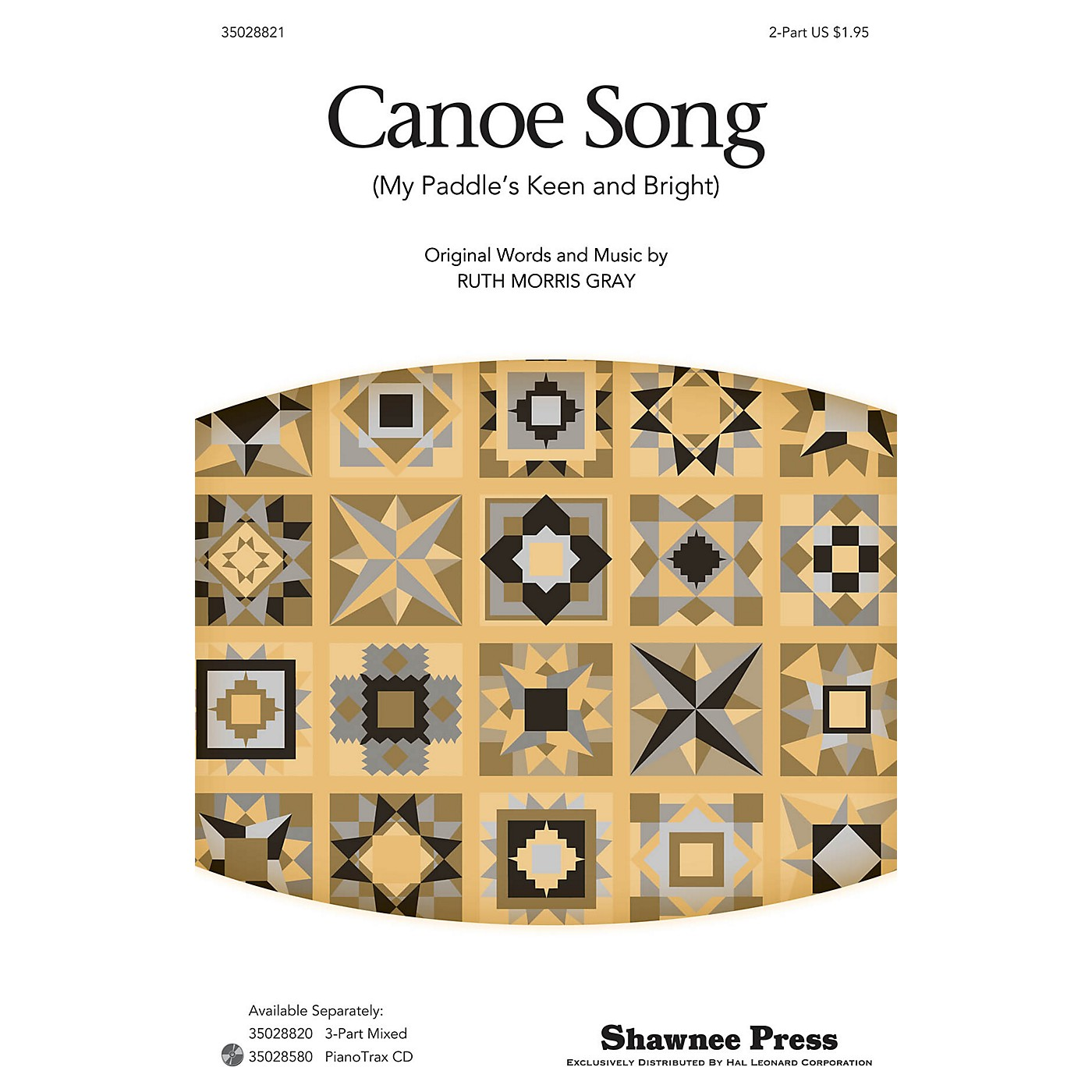 Shawnee Press Canoe Song (My Paddle's Keen and Bright) 2-Part arranged by Ruth Morris Gray thumbnail