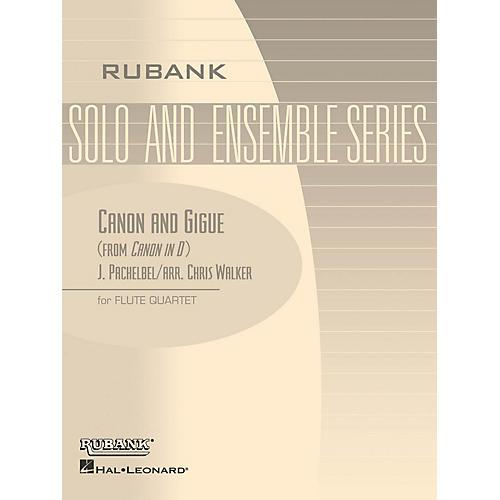 Rubank Publications Canon and Gigue (Flute Quartet - Grade 5) Rubank Solo/Ensemble Sheet Series Composed by Johann Pachelbel thumbnail