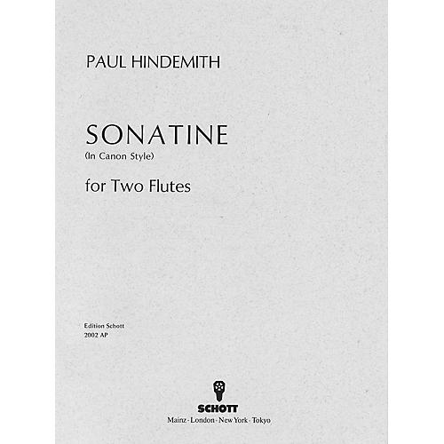 Schott Canonic Sonatina, Op. 31, No. 3 (1923) (Performance Score) Schott Series Composed by Paul Hindemith thumbnail