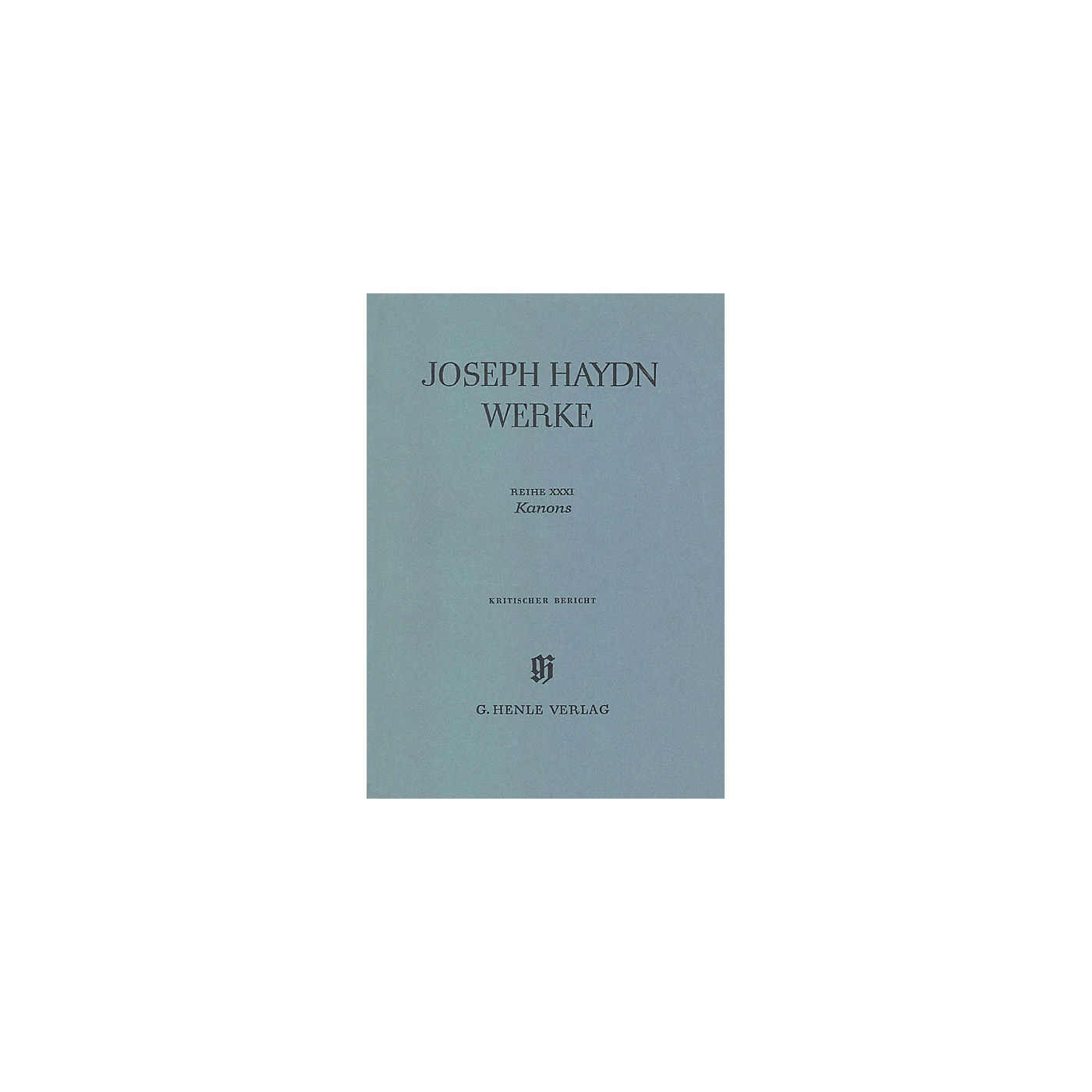 G. Henle Verlag Canons (Haydn Edition, Series XXXI Paperbound) Henle Edition Series Hardcover thumbnail