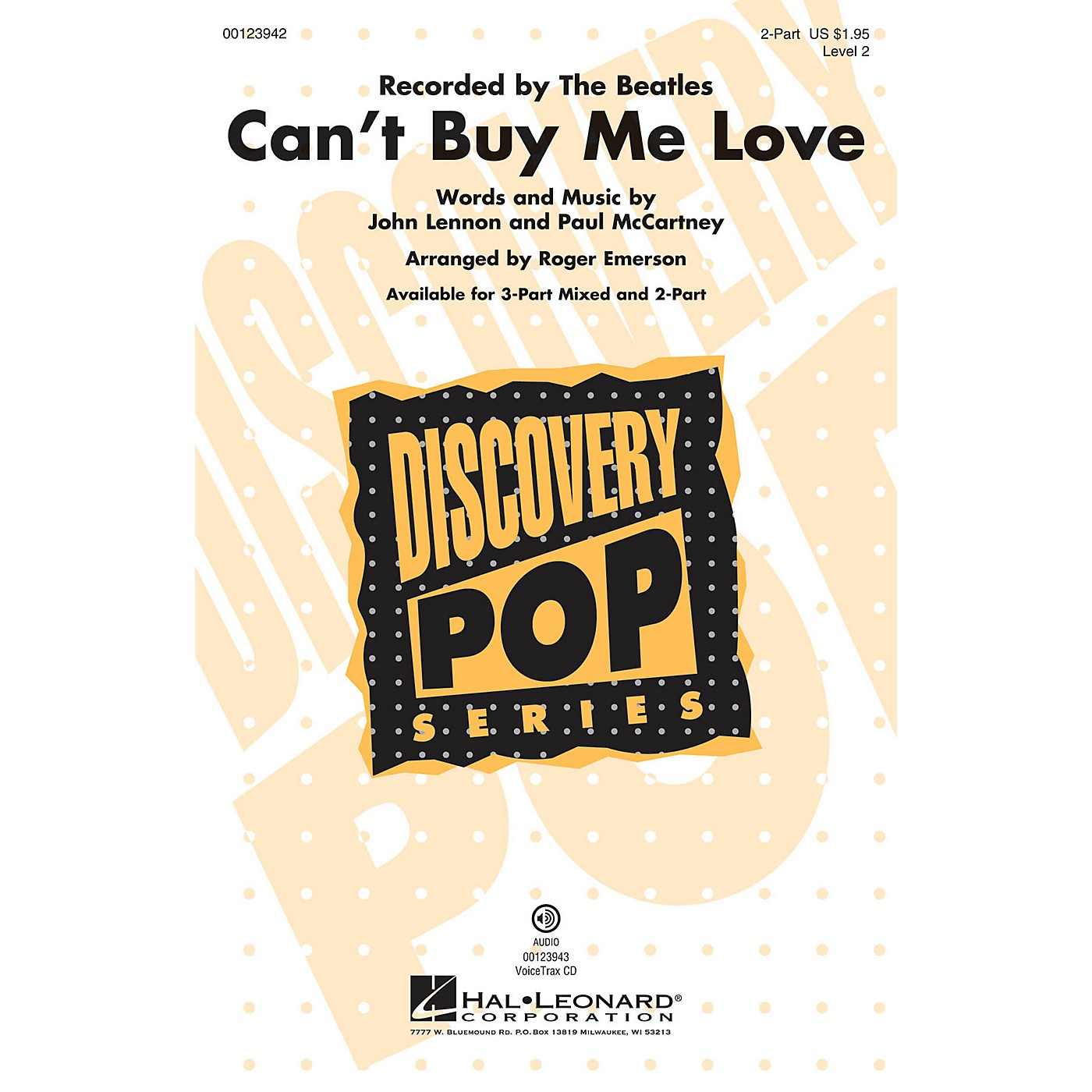 Hal Leonard Can't Buy Me Love (Discovery Level 2) 2-Part by The Beatles arranged by Roger Emerson thumbnail