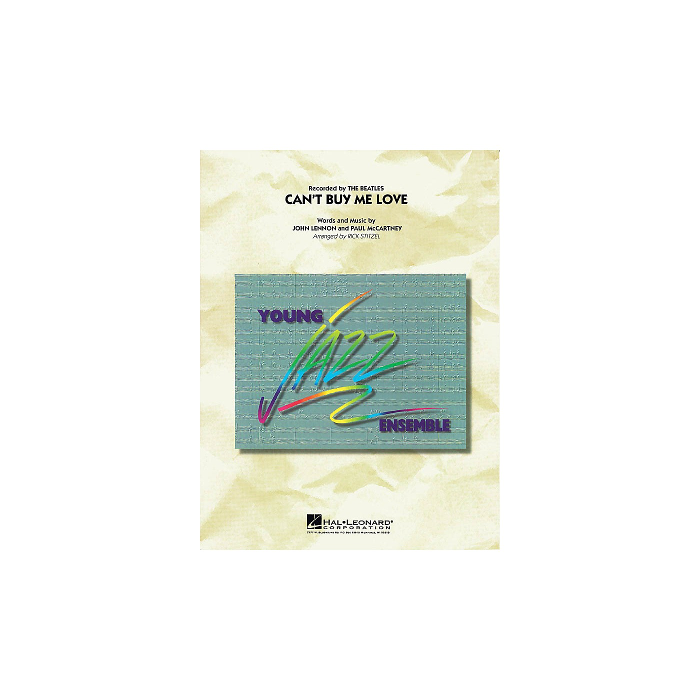 Hal Leonard Can't Buy Me Love Jazz Band Level 3 by The Beatles Arranged by Rick Stitzel thumbnail