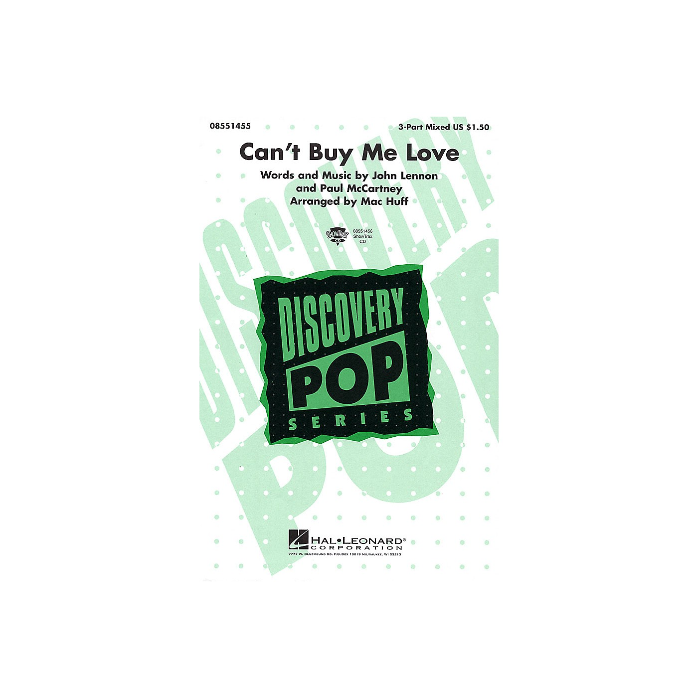 Hal Leonard Can't Buy Me Love ShowTrax CD by The Beatles Arranged by Mac Huff thumbnail