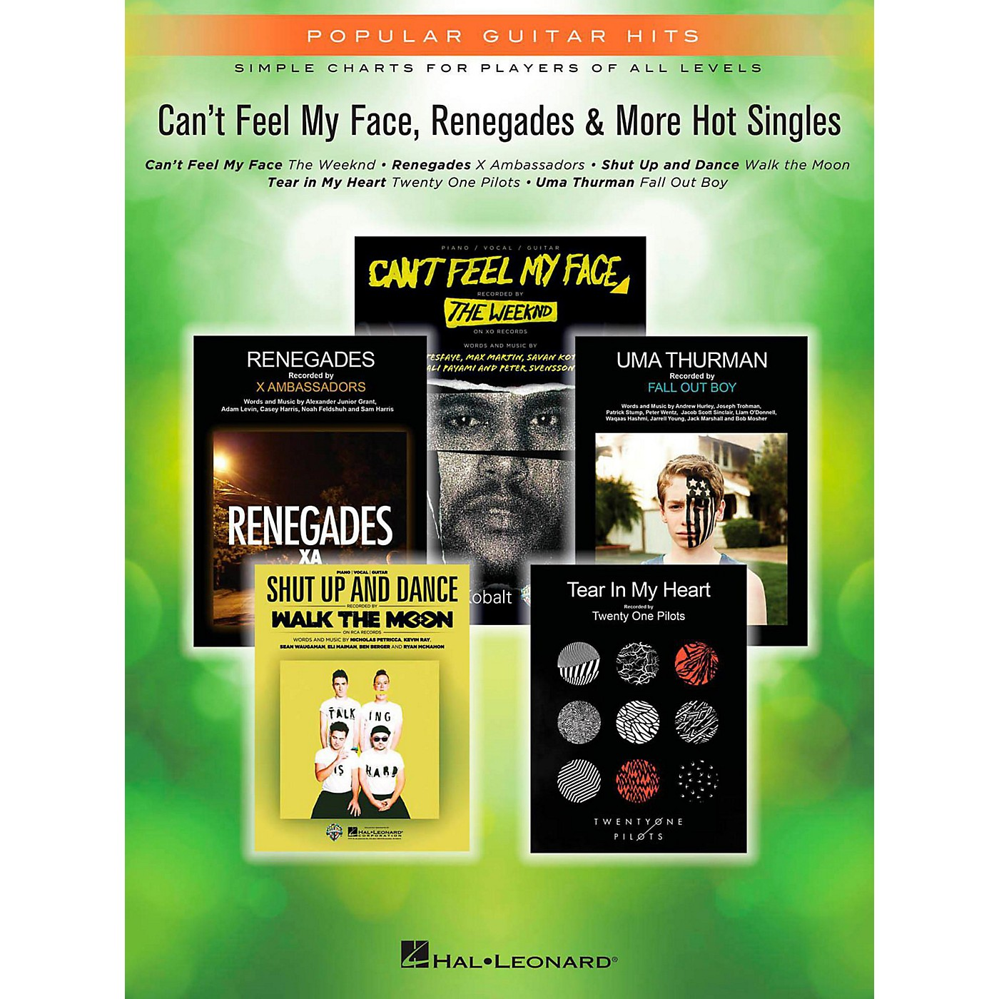 Hal Leonard Can't Feel My Face, Renegades & More Hot Singles for Easy Piano thumbnail