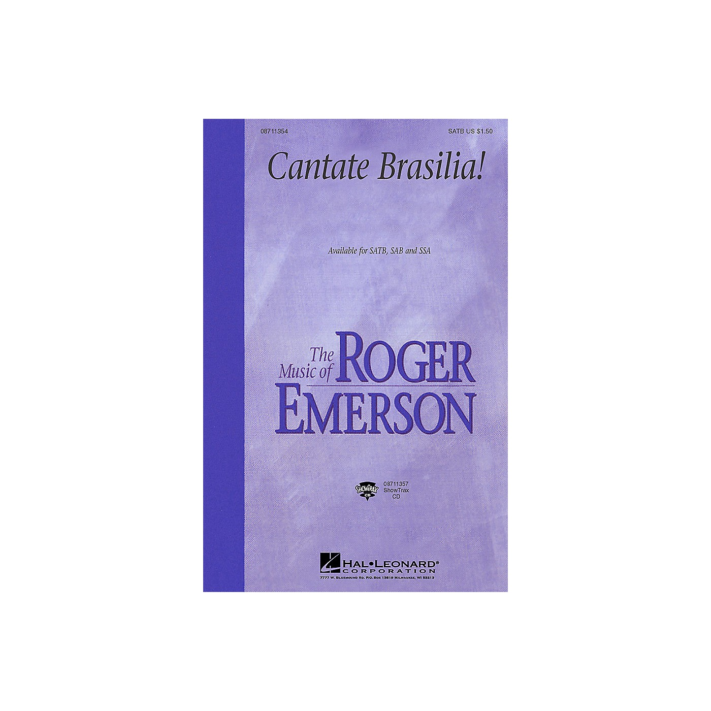 Hal Leonard Cantate Brasilia (SAB) SAB Composed by Roger Emerson thumbnail
