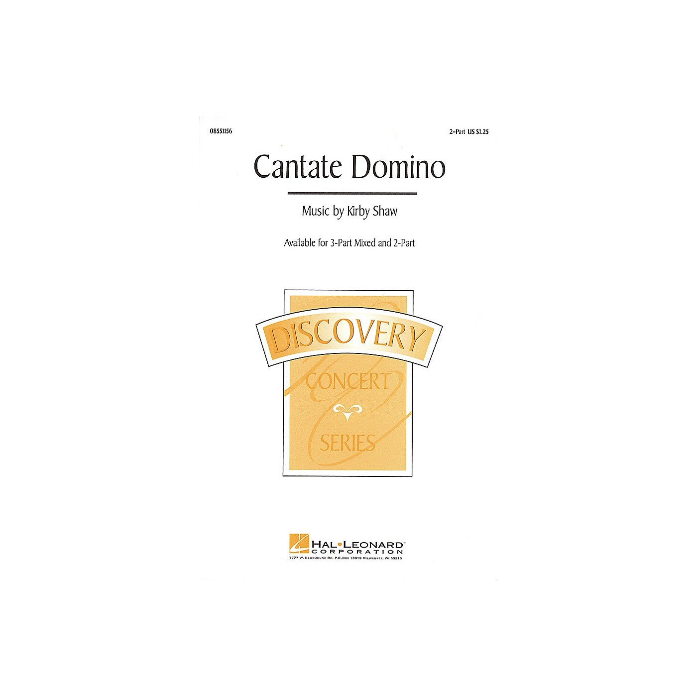 Hal Leonard Cantate Domino 3-Part Mixed Composed by Kirby Shaw thumbnail