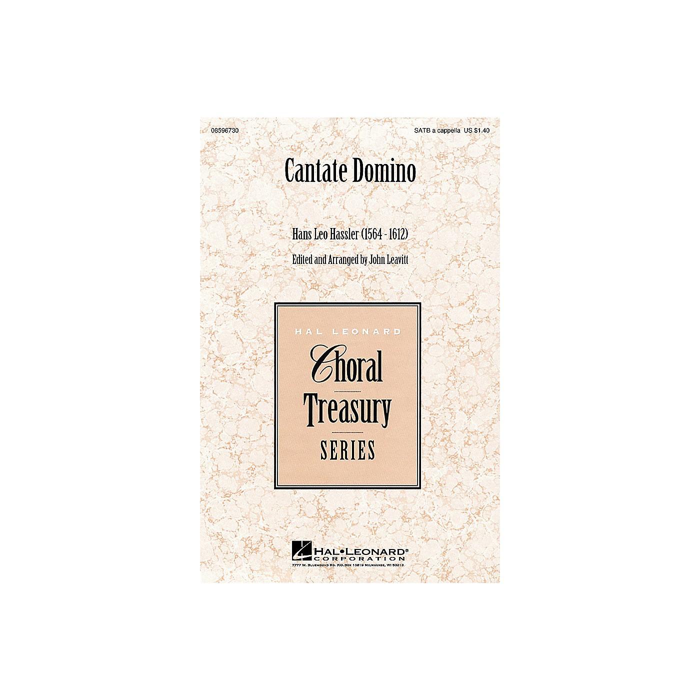 Hal Leonard Cantate Domino SATB a cappella arranged by John Leavitt thumbnail