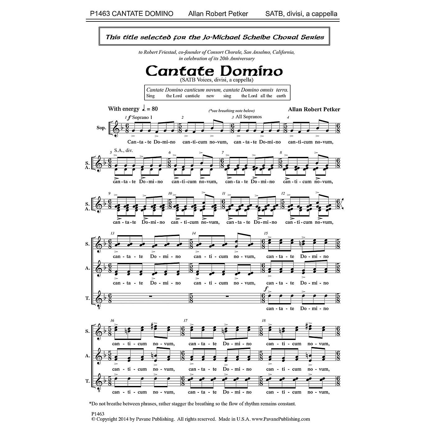 Pavane Cantate Domino SATB a cappella composed by Allan Robert Petker thumbnail