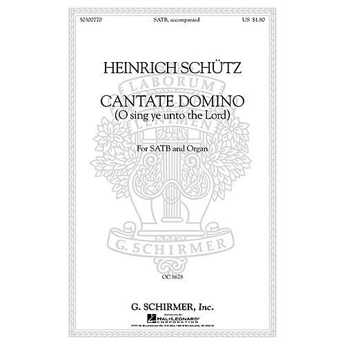 G. Schirmer Cantate Domino (Sing Ye Unto the Lord) (SATB with organ Latin & English) SATB thumbnail