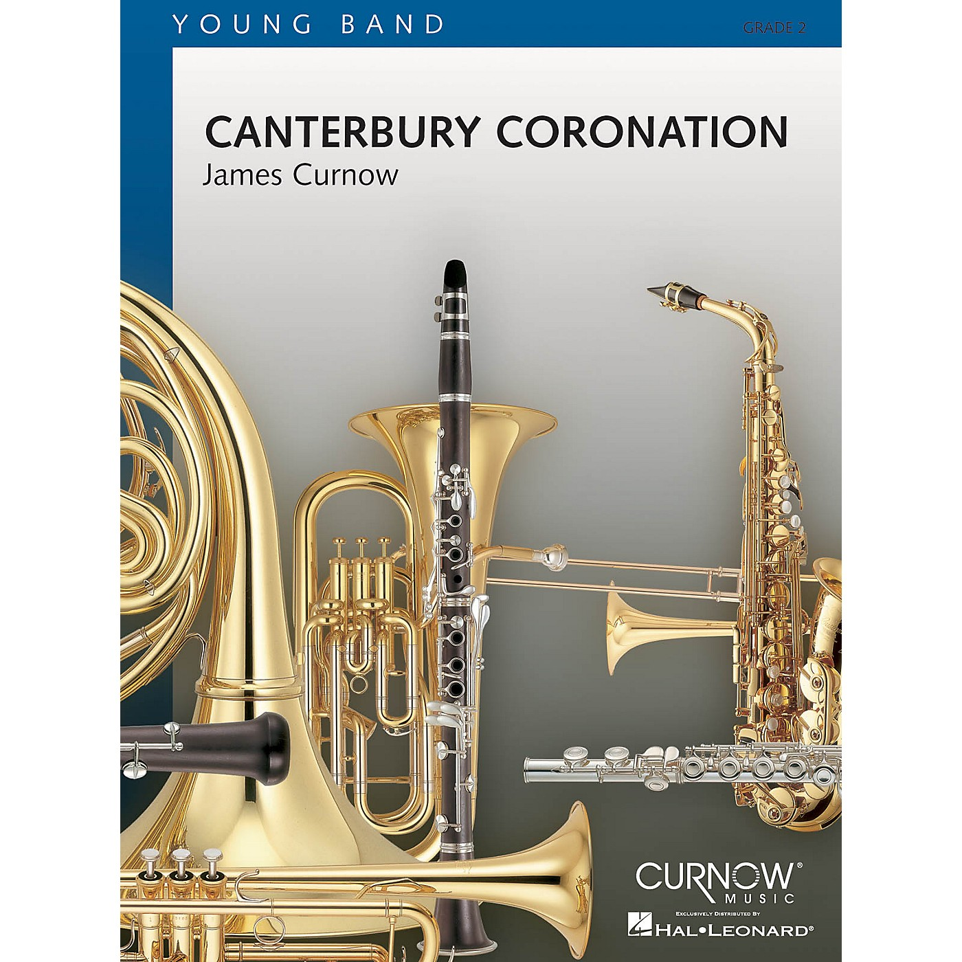 Curnow Music Canterbury Coronation (Grade 2 - Score Only) Concert Band Level 2 Composed by James Curnow thumbnail