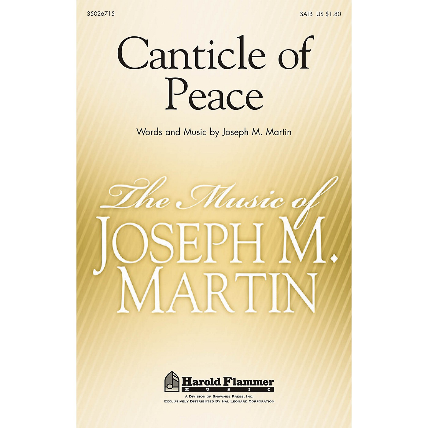 Shawnee Press Canticle of Peace SATB composed by Joseph Martin thumbnail