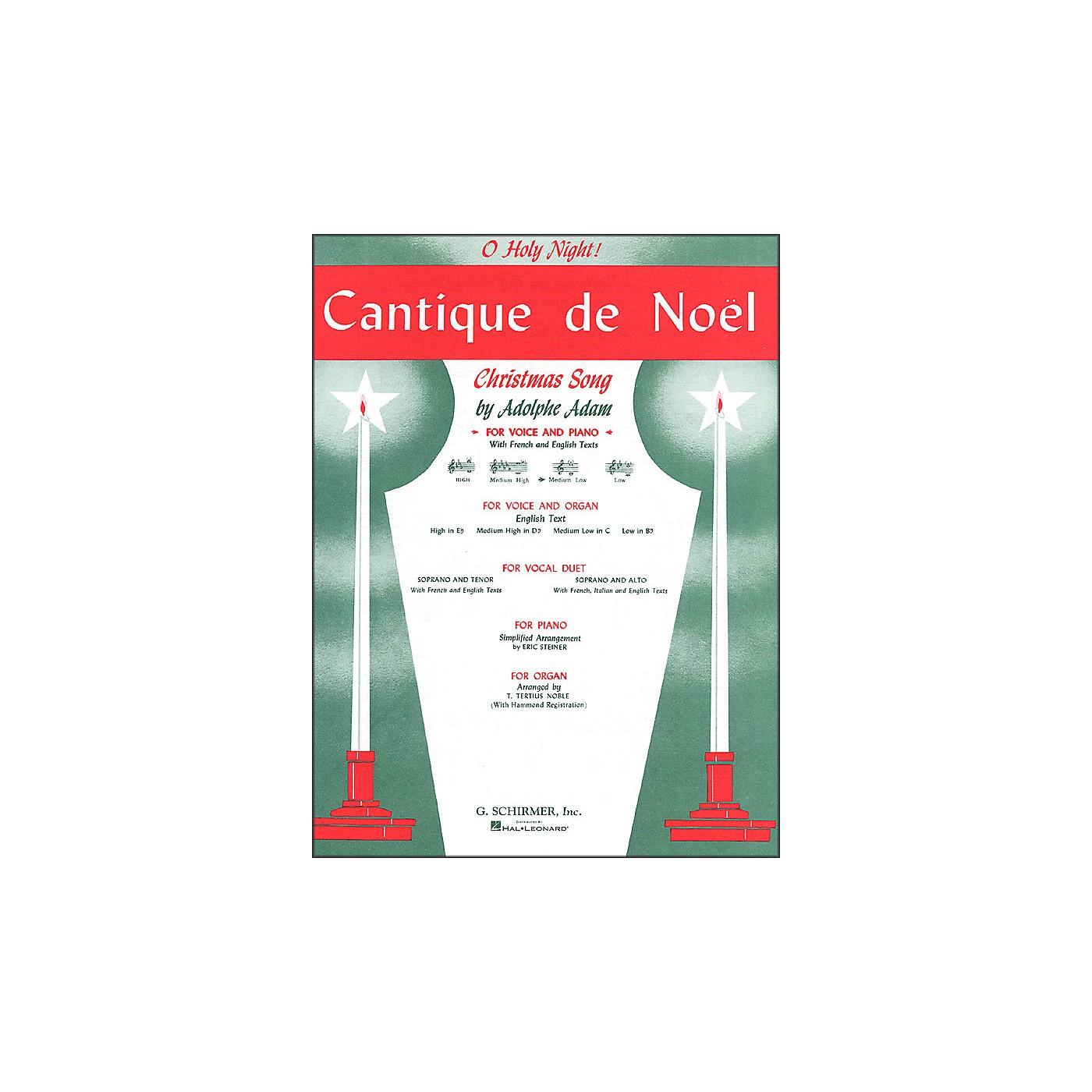 G. Schirmer Cantique De Noel (O Holy Night) for Medium Low Voice In C By Adam / Deis thumbnail