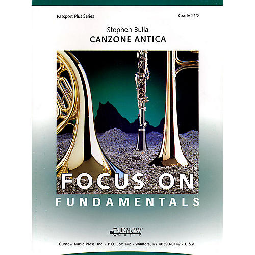 Curnow Music Canzone Antica (Grade 2.5 - Score Only) Concert Band Level 2.5 Composed by Stephen Bulla thumbnail