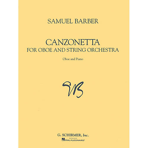 G. Schirmer Canzonetta (for Oboe & Piano Reduction) Woodwind Method Series by Samuel Barber thumbnail