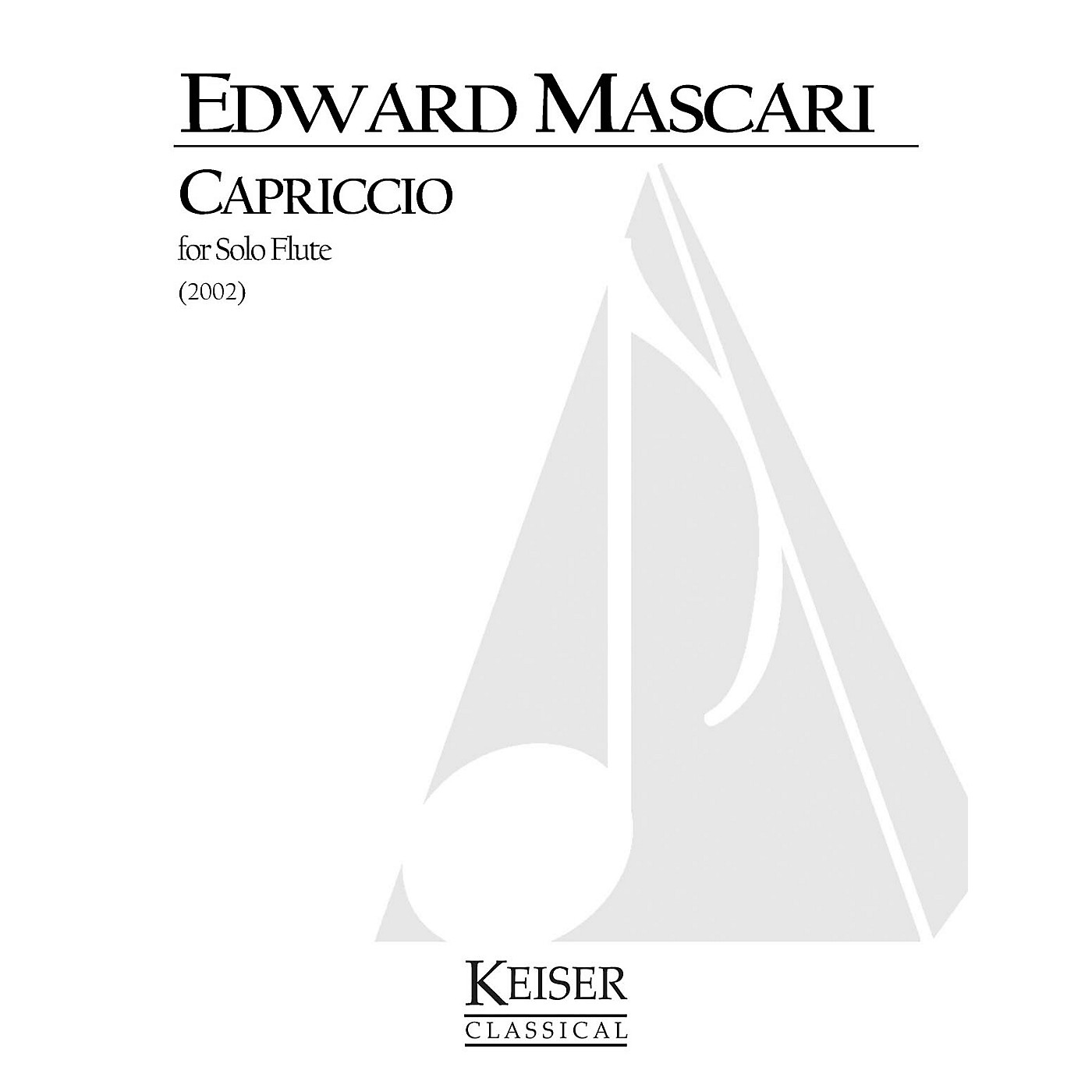 Lauren Keiser Music Publishing Capriccio (Flute Solo) LKM Music Series Composed by Edward P. Mascari thumbnail