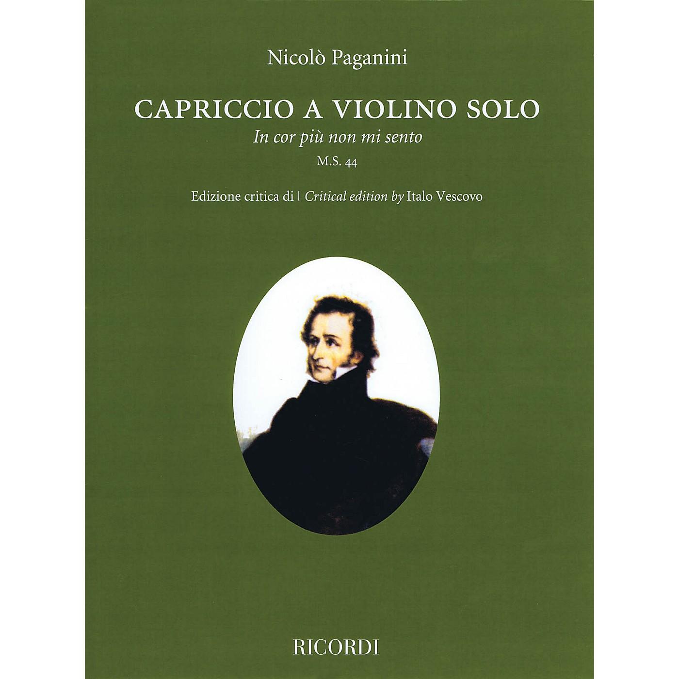 Ricordi Capriccio (In cor piu non mi sento) M.S. 44 Violin Solo thumbnail