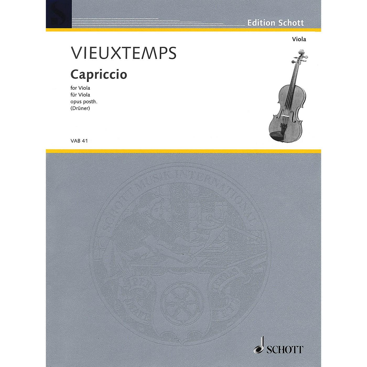 Schott Capriccio, Op. Posthumous (for Solo Viola) Schott Series thumbnail