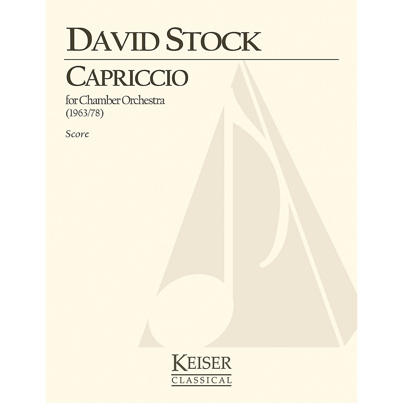 Lauren Keiser Music Publishing Capriccio for Small Orchestra - Full Score LKM Music Series by David Stock thumbnail