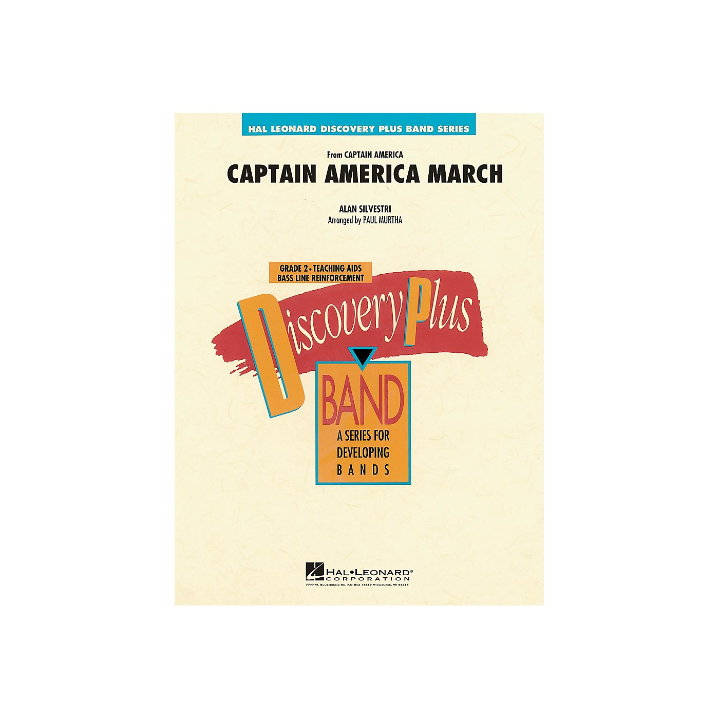 Hal Leonard Captain America March - Discovery Plus! Concert Band Series Level 2 thumbnail