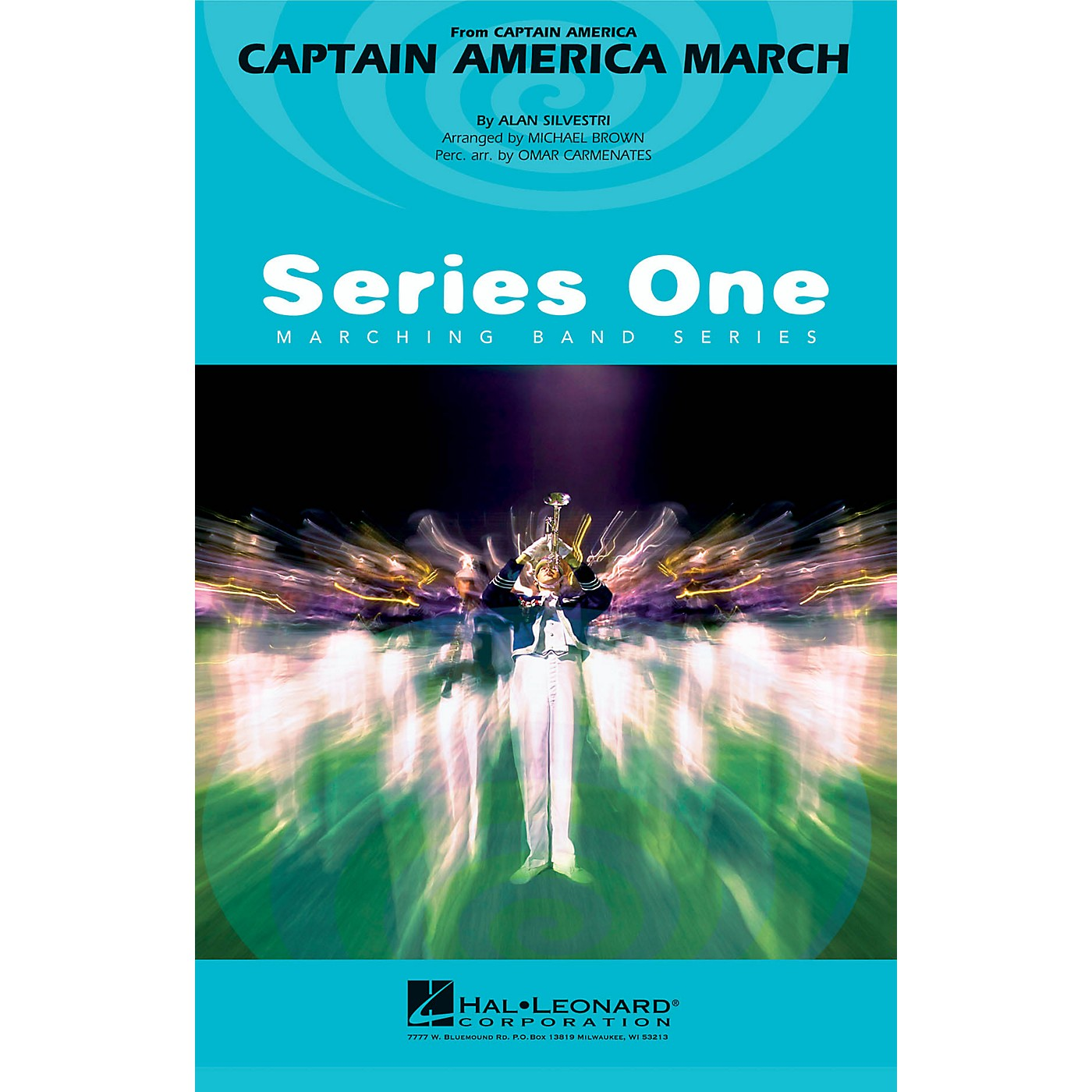 Hal Leonard Captain America March Marching Band Level 2 Arranged by Michael Brown thumbnail