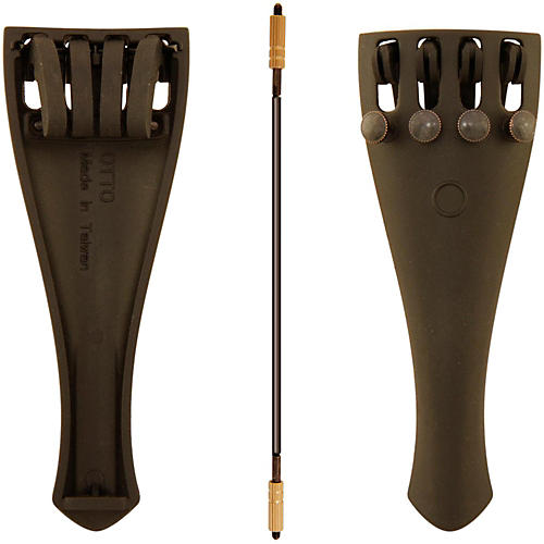 Otto Musica Carbon Composite Viola Tailpiece with Four Built-In Fine Tuners and Braided Steel Tailgut thumbnail