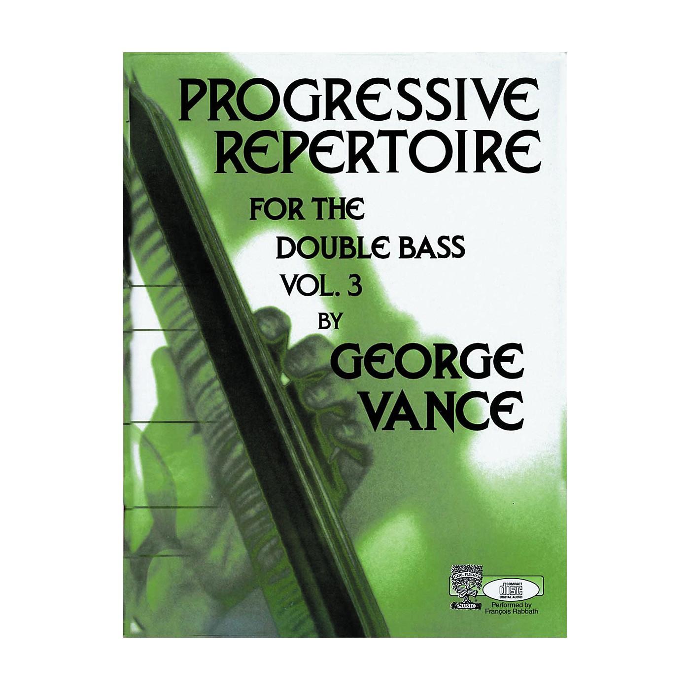 Carl Fischer Carl Fischer Progressive Repertoire For The Double Bass Vol. Three thumbnail