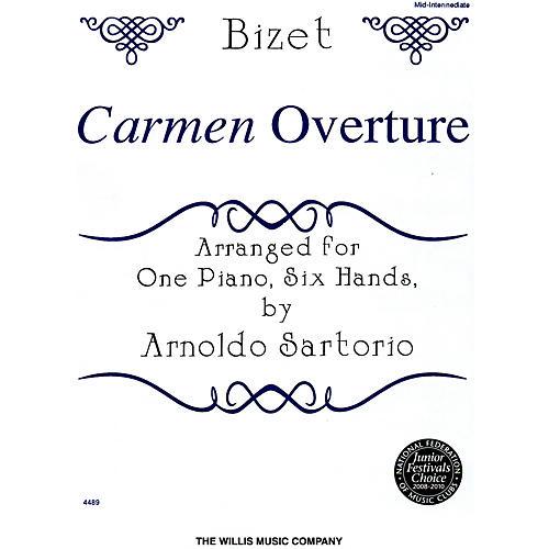 Willis Music Carmen Overture Mid-Intermediate Level One Piano, Six Hands by Arnoldo Sartorio thumbnail