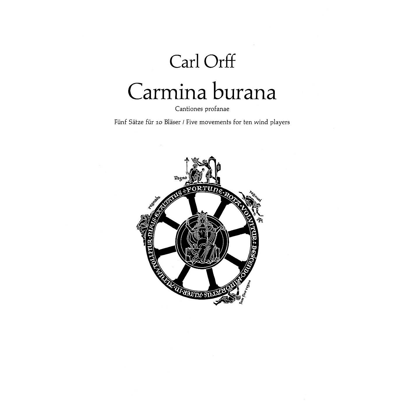 Schott Carmina Burana (Parts) Schott Series by Carl Orff Arranged by Friedrich K. Wanek thumbnail
