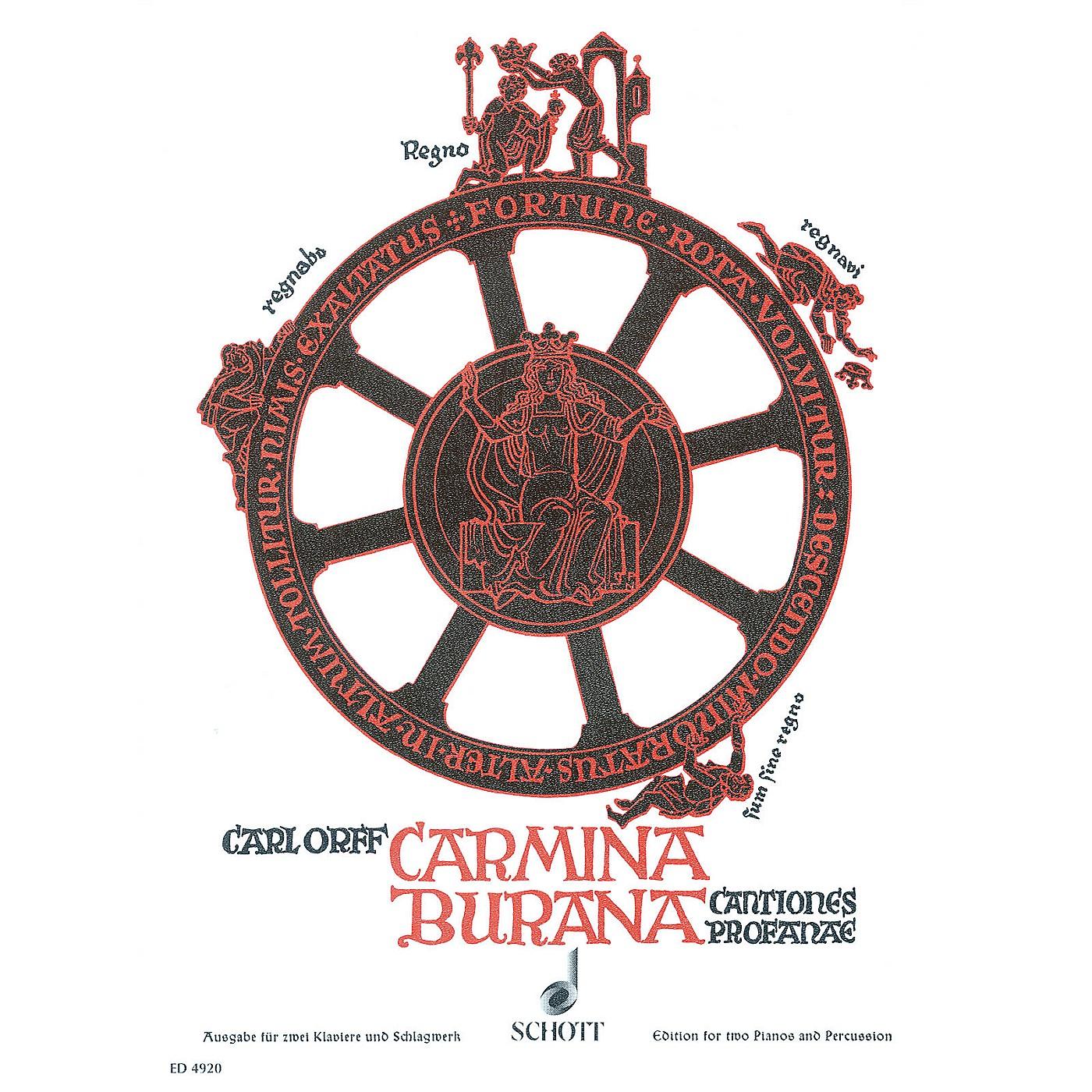 Schott Carmina Burana Score Composed by Carl Orff Arranged by Wilhelm Killmayer thumbnail