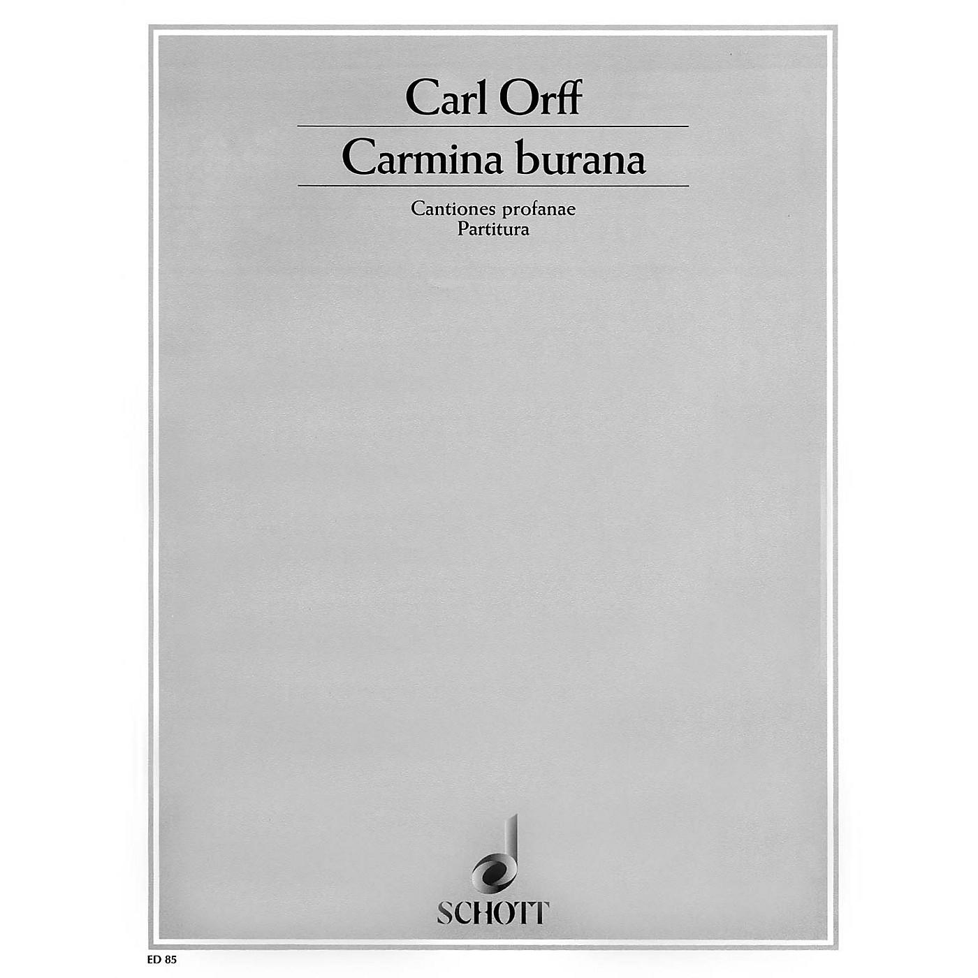 Schott Carmina Burana (Score) Schott Series thumbnail