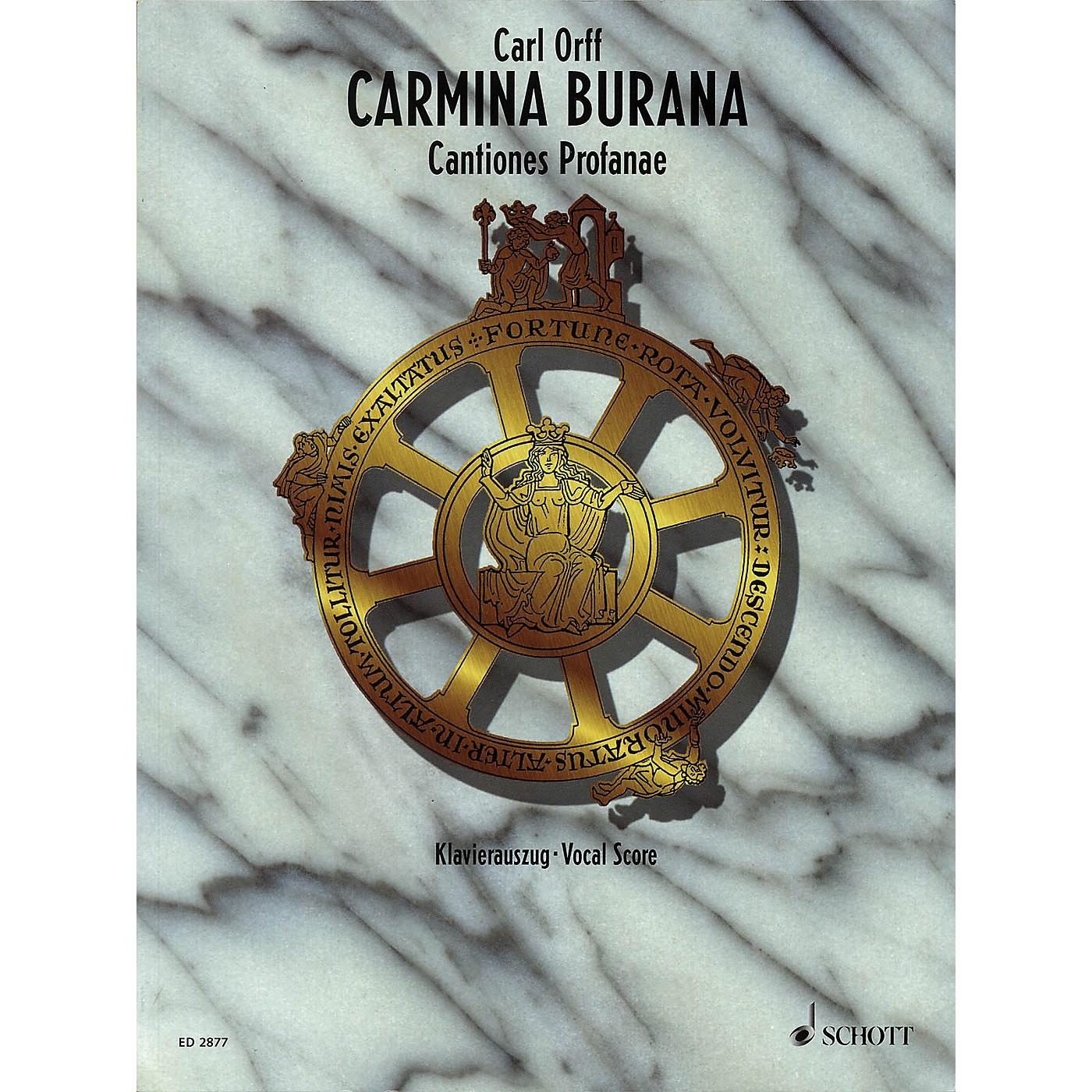 Schott Carmina Burana (Vocal Score) Vocal Score Composed by Carl Orff Arranged by Henning Brauel thumbnail