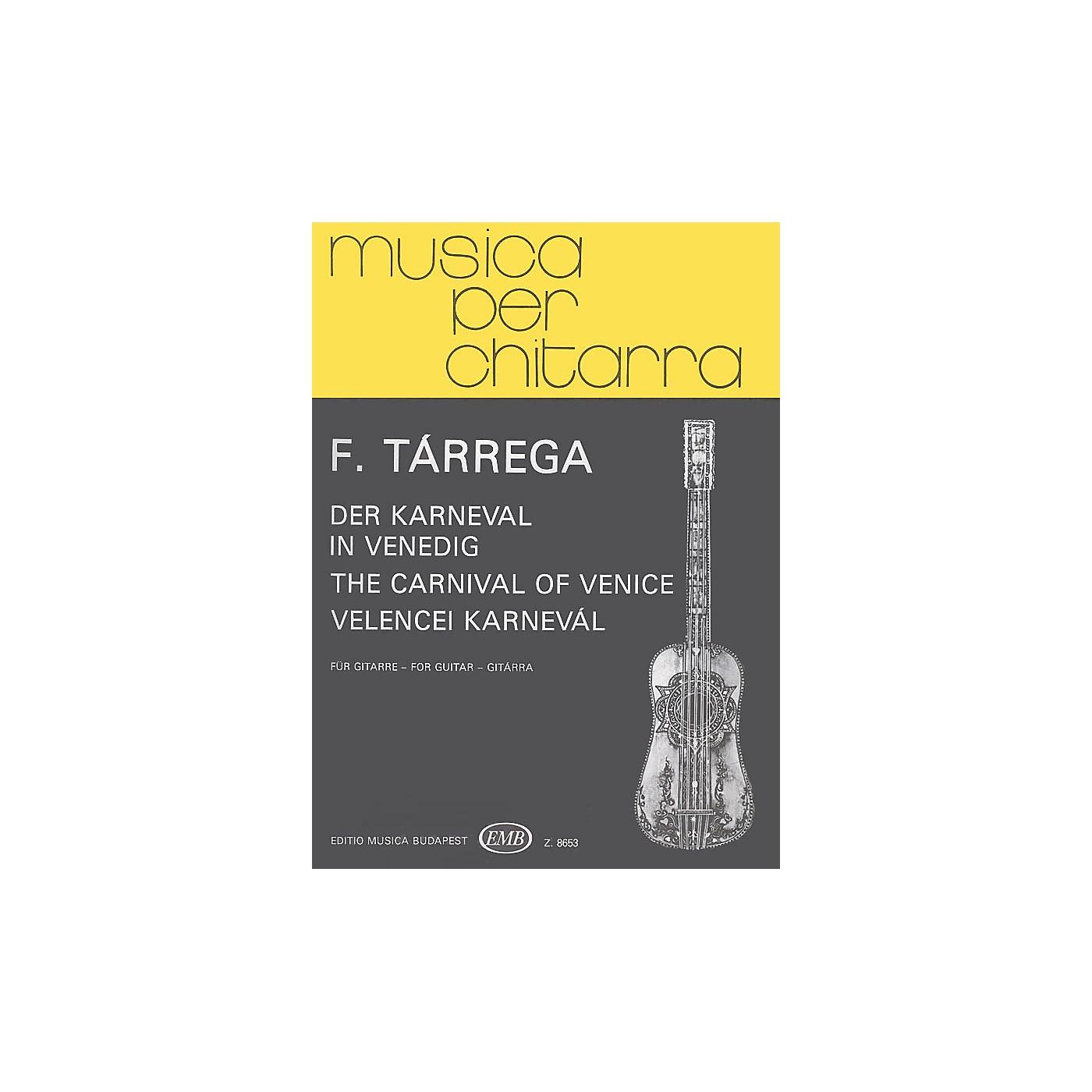 Editio Musica Budapest Carnival of Venice (Guitar Solo) EMB Series Composed by Francisco Tárrega thumbnail