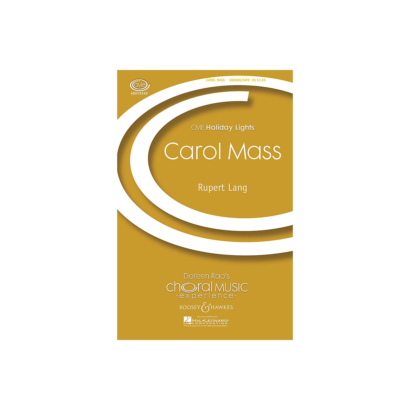 Boosey and Hawkes Carol Mass (CME Holiday Lights) SATB arranged by Rupert Lang thumbnail