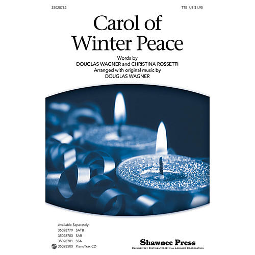 Shawnee Press Carol Of Winter Peace TTB arranged by Douglas Wagner thumbnail