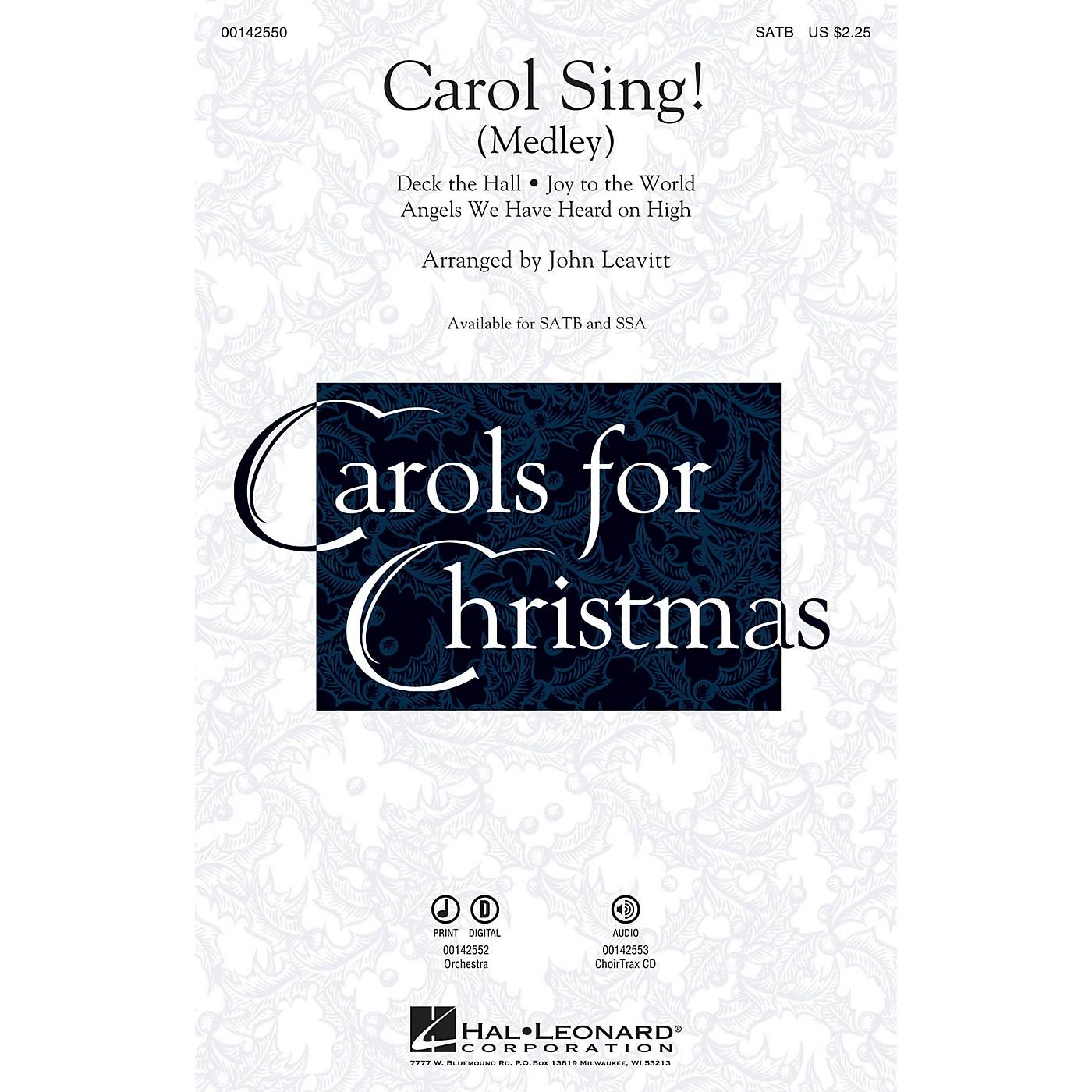 Hal Leonard Carol Sing! (Medley) SATB arranged by John Leavitt thumbnail