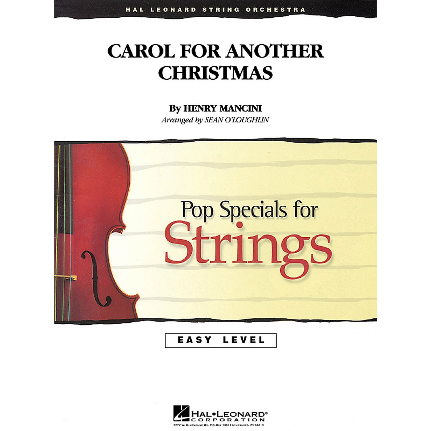 Hal Leonard Carol for Another Christmas Easy Pop Specials For Strings Series Arranged by Sean O'Loughlin thumbnail
