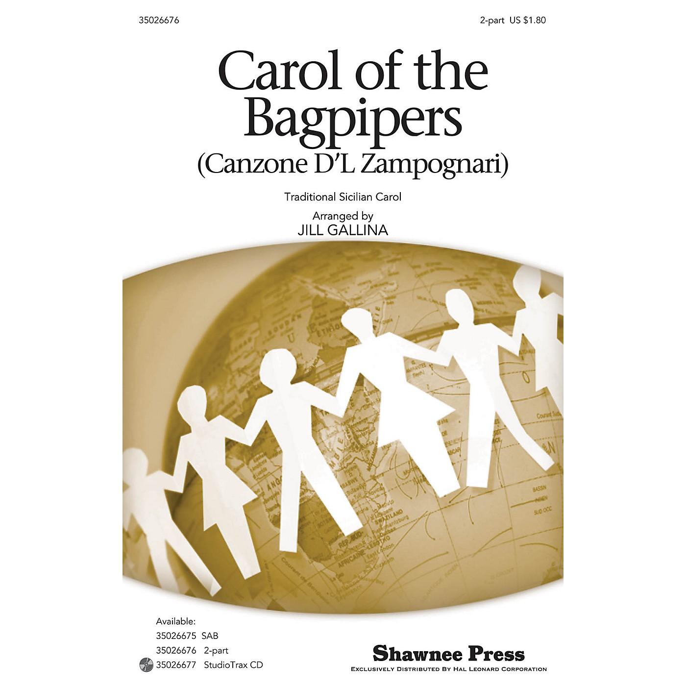 Shawnee Press Carol of the Bagpipers (Canzone D'l Zampognari) 2-Part arranged by Jill Gallina thumbnail