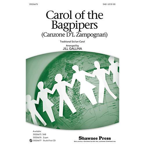 Shawnee Press Carol of the Bagpipers (Canzone D'l Zampognari) SAB arranged by Jill Gallina thumbnail