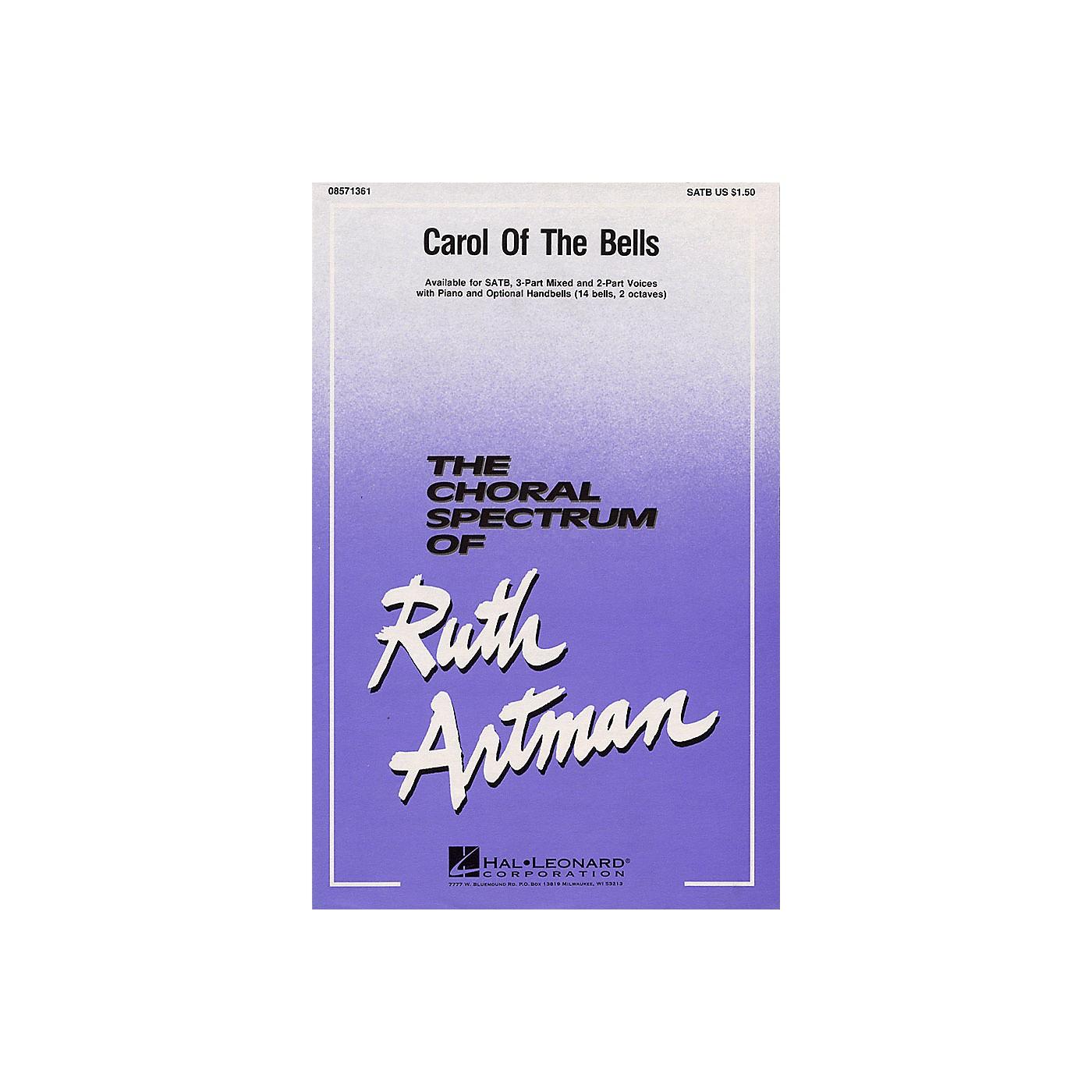 Hal Leonard Carol of the Bells 2-Part Arranged by Ruth Artman thumbnail
