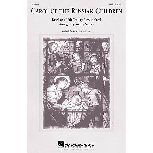 Hal Leonard Carol of the Russian Children SAB Arranged by Audrey Snyder thumbnail