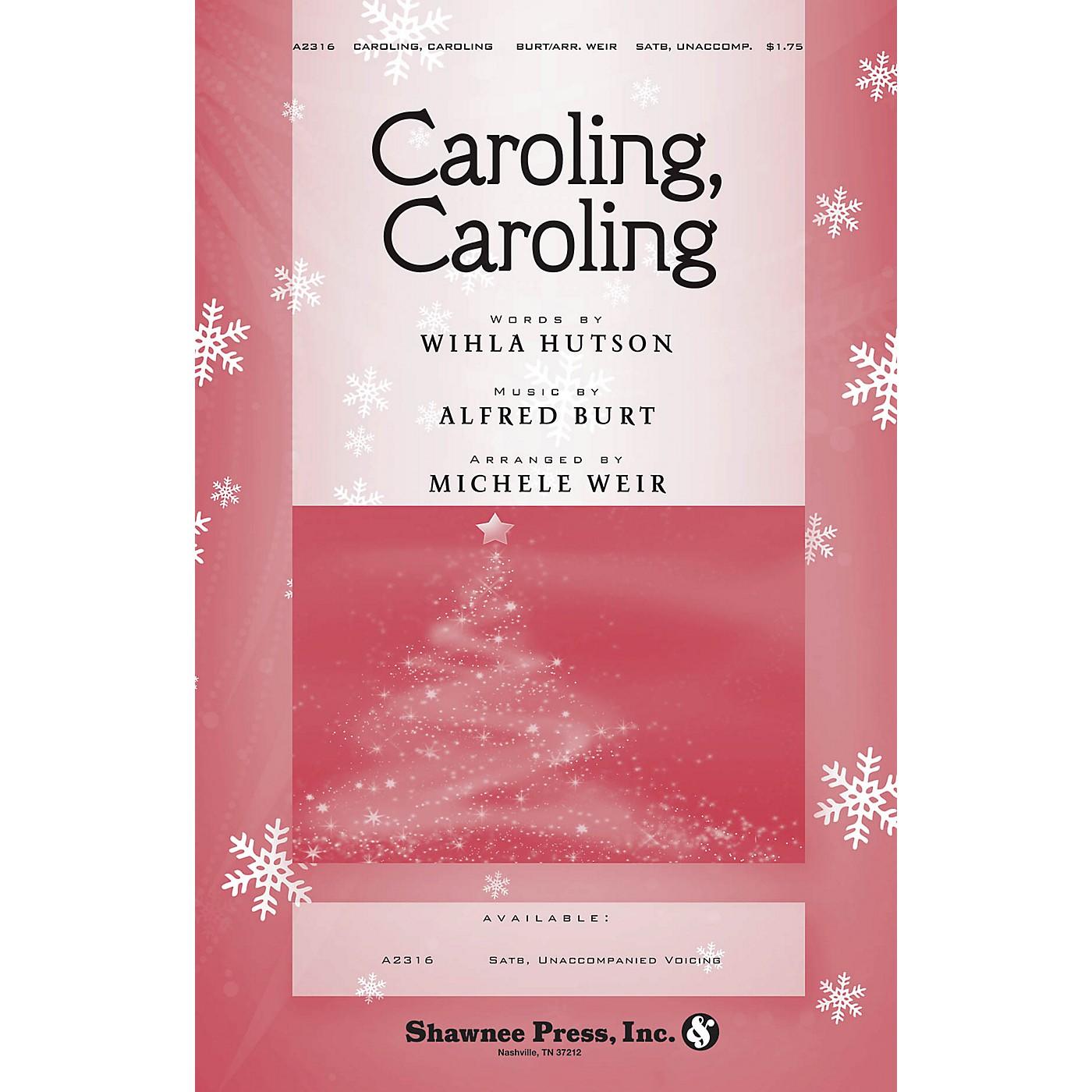 Shawnee Press Caroling, Caroling SATB a cappella arranged by Michele Weir thumbnail